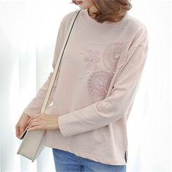 Styleberry - Floral Appliqué T-Shirt