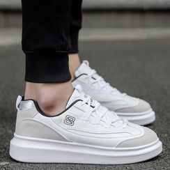 Chariot - Faux-Leather Platform Sneakers