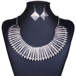 Chidori - 套裝: 項鍊 + 耳環
