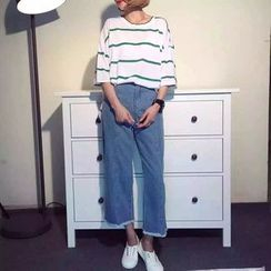 MePanda - 散口宽腿牛仔裤