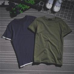 Mr.C studio - Short-Sleeve Mock Two Piece T-Shirt