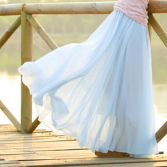 Ando Store - Pleated Maxi Skirt