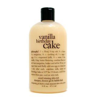 Philosophy - Vanilla Birthday Cake - Award Winning Ultra Rich Shampoo, S/G and Bubble Bath