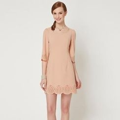 O.SA - Cutout-Trim Chiffon Dress