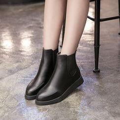 Monde - Faux Leather Chelsea Boots
