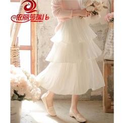Elisa Rachel - 多层雪纺中长裙