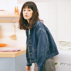 MOJIN - Cropped Denim Jacket