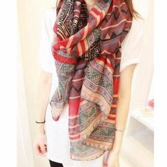 Cuteberry - Geometric-Pattern Scarf