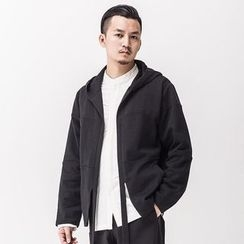 Ashen - Open-Front Hooded Jacket