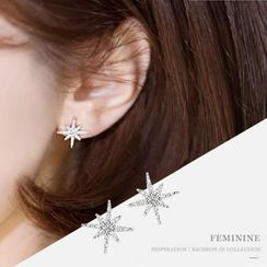 Love Generation - Rhinestone Snowflake Earrings