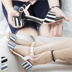 Reneve - Ankle-Strap Striped Sandals