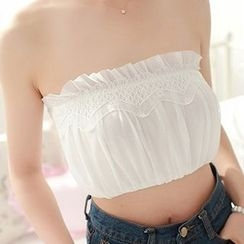 MEIA - Frill Trim Tube Top