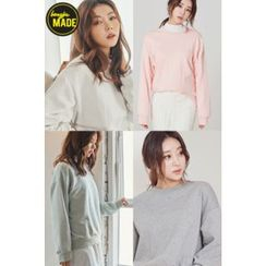 BONGJA SHOP - Colored Drop-Shoulder Pullover