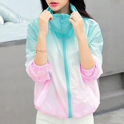 Fashion Street - Gradient Hooded Light Jacket