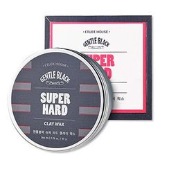 Etude House - Gentle Black Hard Clay Wax 65g