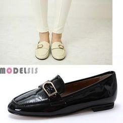 MODELSIS - Buckle Accent Patent Loafers