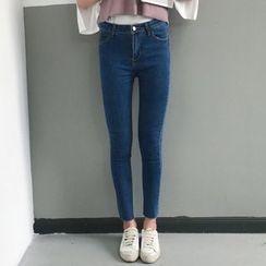 MATO - Raw Hem Skinny Jeans