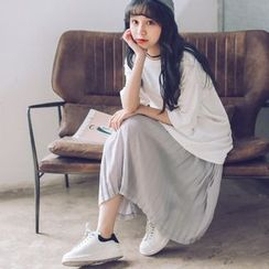 SUYISODA - Pleated Midi Skirt
