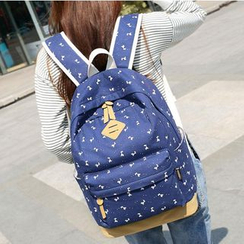 VIVA - Patterned Canvas Backpack