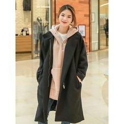 LOLOten - Zip-Up Wool Blend Coat