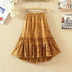 Clementine - Lace A-Line Skirt