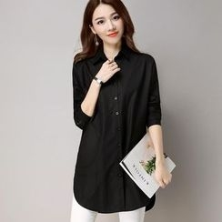 Hazie - Perforated Long Shirt