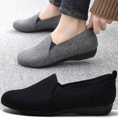 Reneve - Round-Toe Fabric Slip-Ons