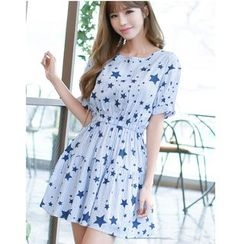 Dowisi - Print Short-Sleeve Dress
