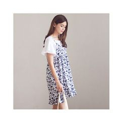 MASoeur - Spaghetti-Strap Floral Print Dress