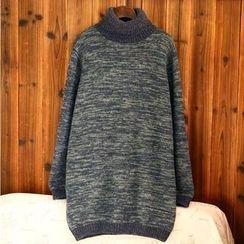 tete - 高領毛衣裙
