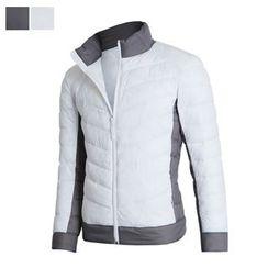 DANGOON - Contrast-Trim Zip-Up Padded Jacket