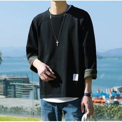 Bestrooy - 3/4-Sleeve Loose Fit T-Shirt