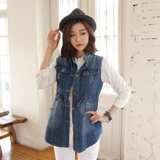 Envy Look - Drawcord Waist Denim Vest