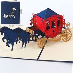 ByHeart - Carriage 3D Greeting Card