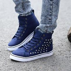 Easy Steps - Studded High-Top Sneakers