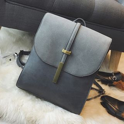 Little Days - Faux Leather Flap Backpack