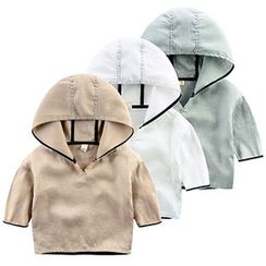 Kido - Kids Elbow-Sleeve Hooded T-Shirt