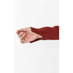 Someday, if - Dip-Back Wool Knit Top