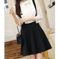 Romantica - Set: Lace Blouse + Jumper Skirt