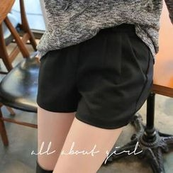 REDOPIN - Pleat-Front Shorts