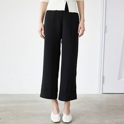 HORG - Plain Capri Wide Leg Pants