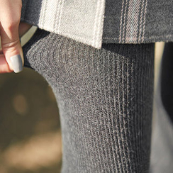 chuu - Wool Blend Rib-Knit Leggings