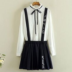 Storyland - Embroidered Pleated Jumper Skirt