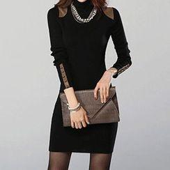 Coralie - Long-Sleeve Sheath Dress