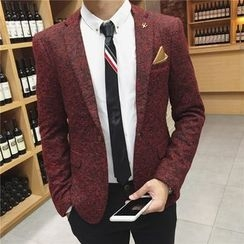 Bay Go Mall - Mélange Single Button Blazer
