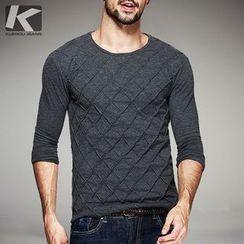 Quincy King - Long-Sleeve Pattern T-Shirt
