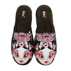 Betta - Ladies Chinese Opera Mask Slippers