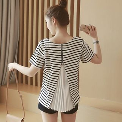 Ceres - Maternity Short-Sleeve Striped T-Shirt