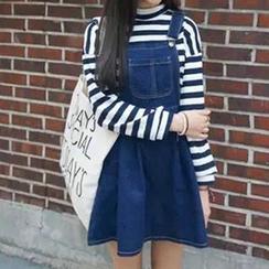 Fashion Street - Denim Jumper Dress