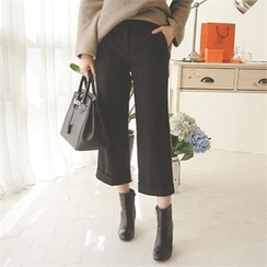 ode' - Wool Blend Cropped Pants